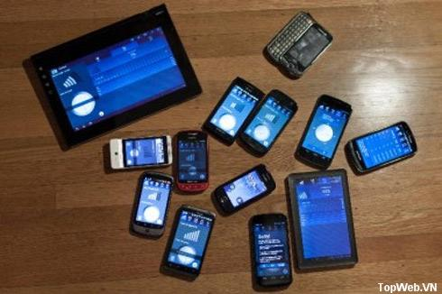 Vị trí của các 'ông lớn' trên thị trường Android