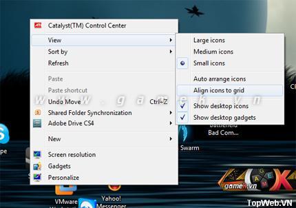 Phần mềm My Cool Desktop - Sắp xếp icon nghệ thuật