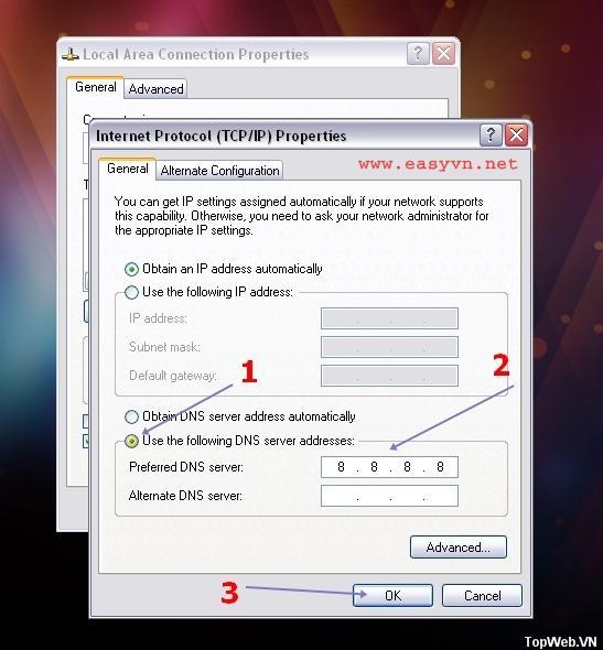 Cách vào facebook ( fb ) bị chặn với mạng VNPT, FPT, Viettel ( hướng dẫn bằng hình ảnh )