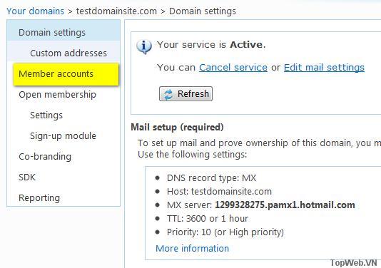 Giải pháp email theo tên miền thay thế Google mail