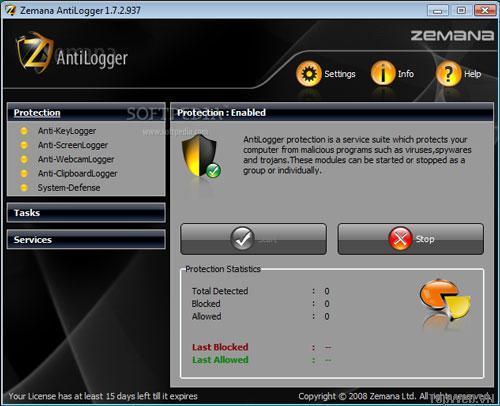 Dowload Phần mềm Zemana AntiLogger miễn phí