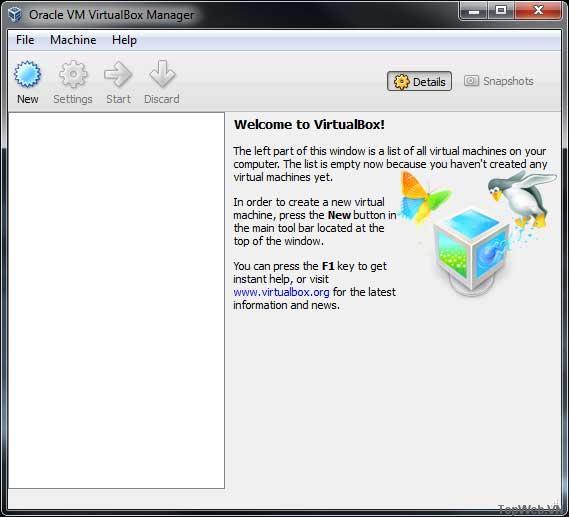 Chạy Linux OS bằng VirtualBox