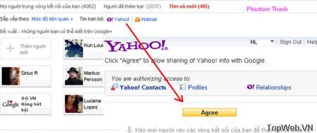 Chuyển bạn bè từ Facebook sang Google+