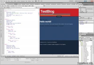 Làm việc với các trang WordPress trong Dreamweaver