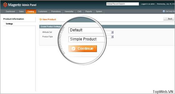 Thiết lập Attribute Set và Product Type