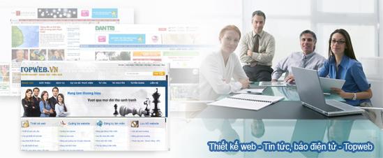 thiết kế website tin tức, báo điện tử